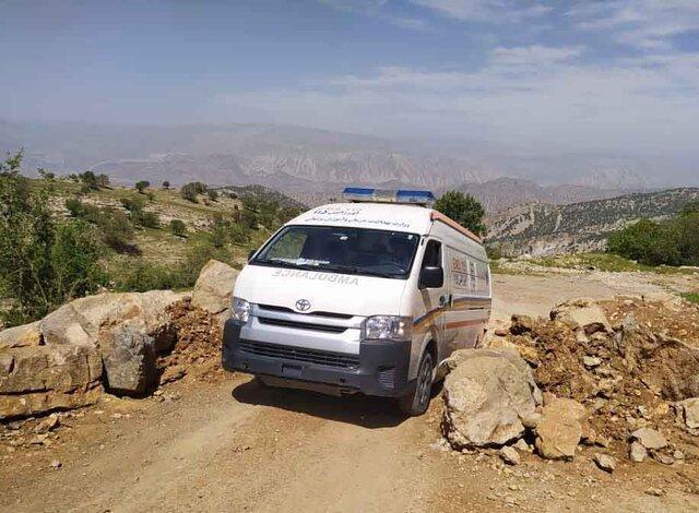 نجات مرد 62 ساله سقوط نموده از کوه سیاه لنده پس از 12.5 ساعت