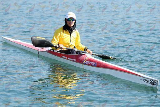 کوشش تنها بانوی قایقران پارالمپیکی برای قرار دریافت روی سکو