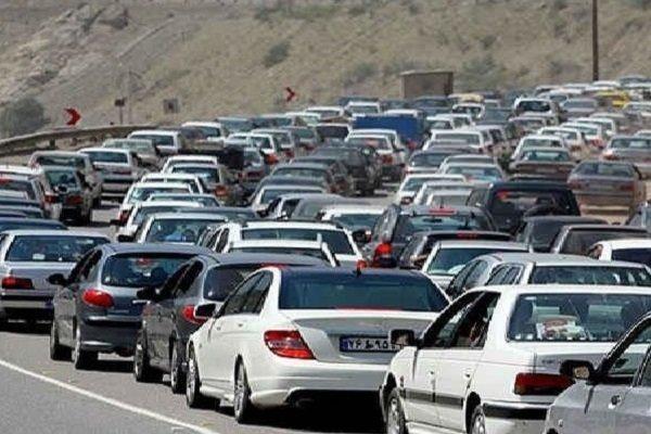 ترافیک سنگین در محور دماوند - فیروزکوه